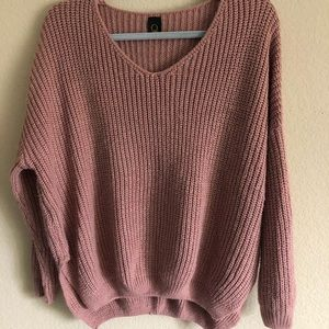 Sweaters - Pink Beige Sweater